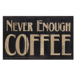 Never Enough Coffee Panel Sign