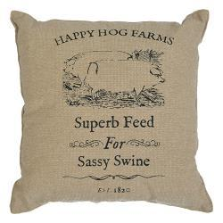 Sassy Swine Pillow, 10""