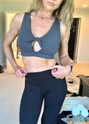 Pine Front Knot Sports Bra - Final Sale