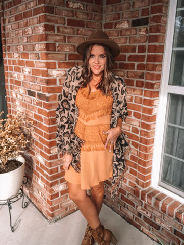 Butterscotch Party Dress
