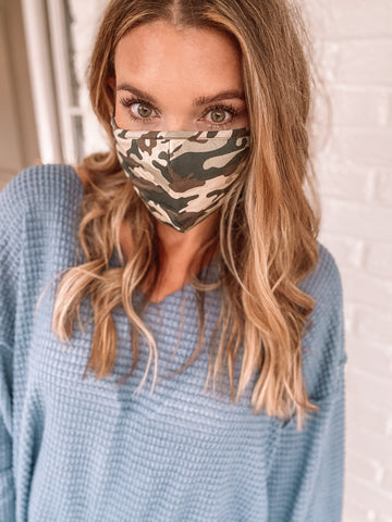 Camo Face Mask - Triple Layer Cotton Mask