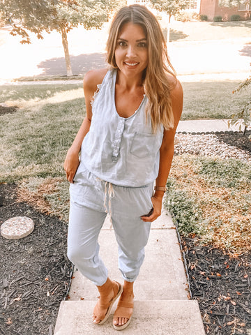 Say My Name Denim Jumpsuit