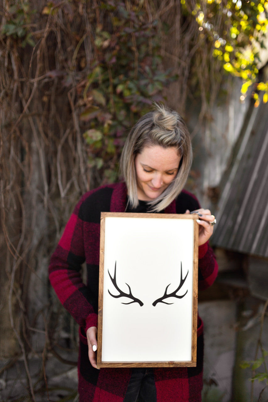 Antlers | Wood Sign |