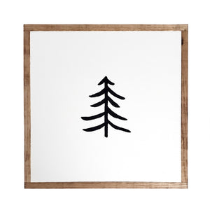 Simple Tree | Wood Sign |
