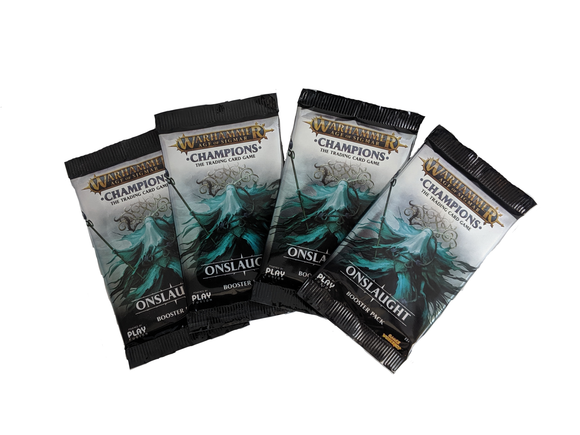 Warhammer Champions - 4 Booster Packs - Onslaught