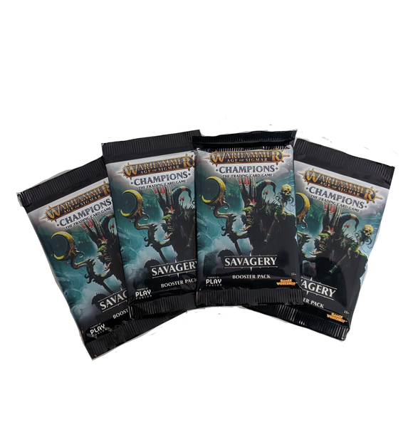 Warhammer Champions - 4 Booster Packs - Savagery