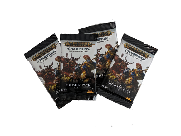 Warhammer Champions - 4 Booster Packs