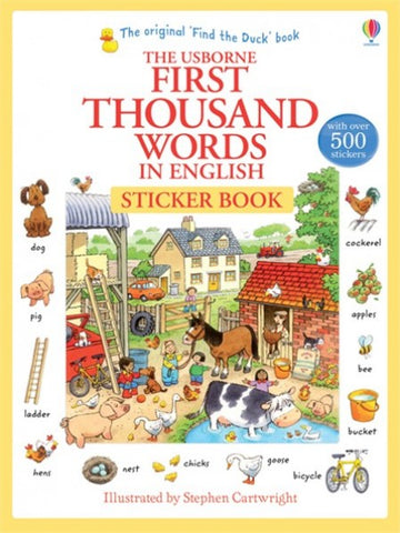 First Thousand Words in English - Sticker Book