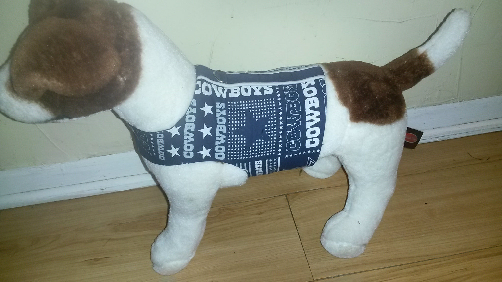 5de958376fb Dallas Cowboys cotton print small dog or cat cloth harness – It's ...