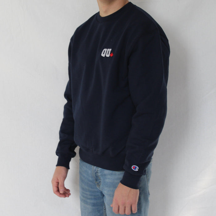 QU Leaf Champion Crewneck