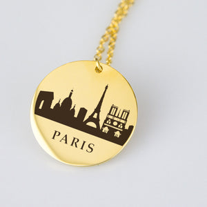 Paris Skyline Pendant - Gold Plated