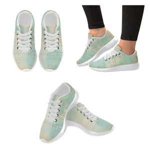 Blue Vintage Script Women's Running Shoes