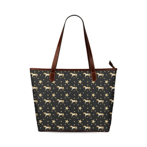 Gold Unicorn Shoulder Tote Bag