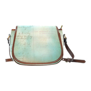 Blue Vintage Script Saddle Bag