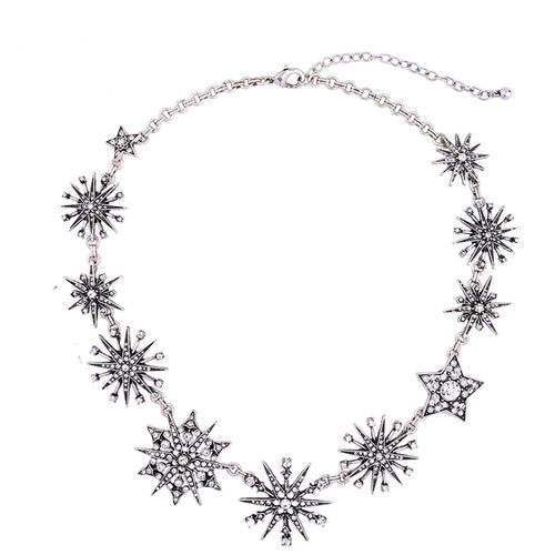 Rhinestone Starburst Necklace