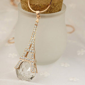 Crystal Ball Eiffel Tower Pendant