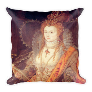 Elizabeth I Rainbow Portrait Square Pillow