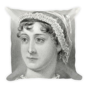 Jane Austen Square Pillow