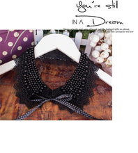 Victorian-Style Beaded Collar - Black