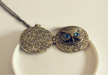 Retro Bronze Owl Locket