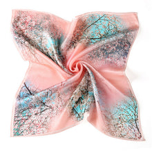 Spring Day Silk Scarf - Blue