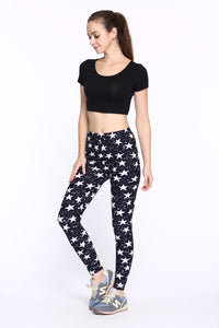 Black & White Star Leggings