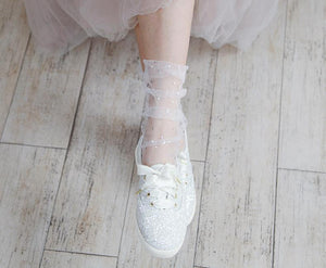 Star Tulle Socks - Black