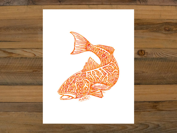 Fuego Redfish Art Print