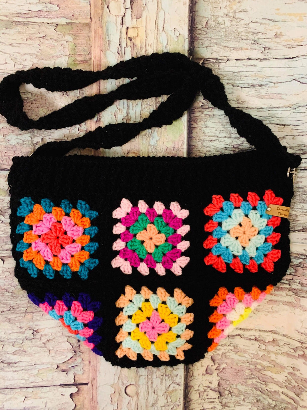 Handmade Granny Square Tote by DevonMai Designs