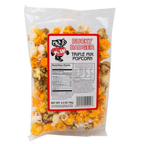 Bucky Badger Triple Mix Popcorn