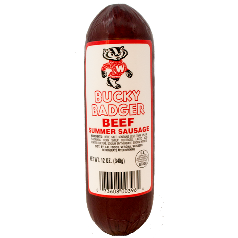 Bucky Badger Beef Summer Sausage