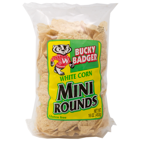 Bucky Badger Mini White Corn Tortilla Chips