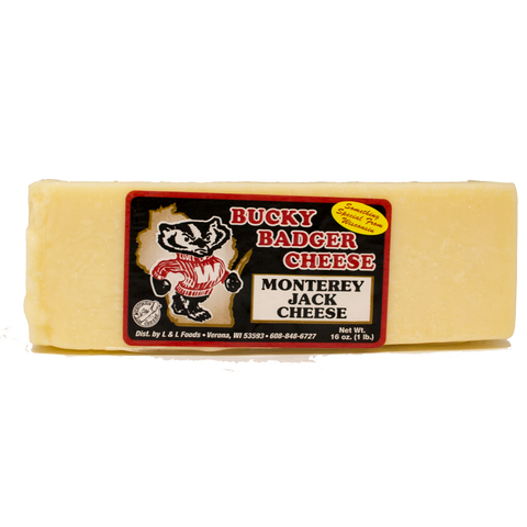 Bucky Badger Monterey Jack Cheese