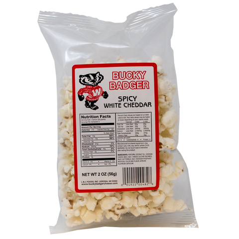 Bucky Badger Spicy White Cheddar Popcorn