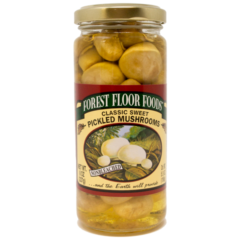 Forest Floor Sweet Pickled Mushrooms