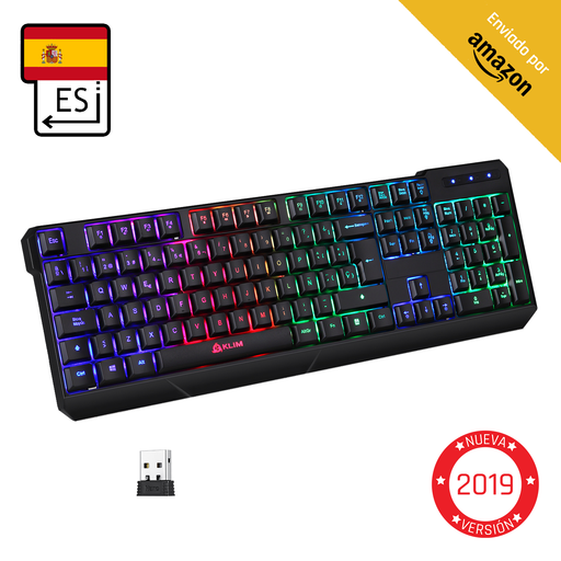 KLIM Chroma Teclado Gaming AZERTY Wireless
