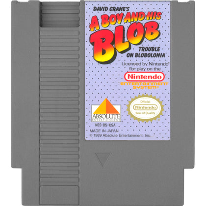 A Boy and His Blob: Trouble on Blobolonia - Authentic NES Game Cartridge