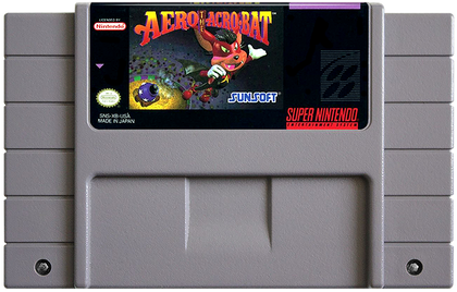 Aero the Acro-Bat - Super Nintendo (SNES) Game Cartridge