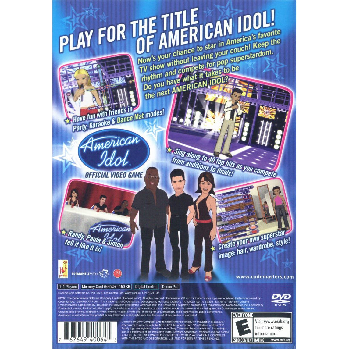 American Idol - PlayStation 2 (PS2) Game Complete - YourGamingShop.com - Buy, Sell, Trade Video Games Online. 120 Day Warranty. Satisfaction Guaranteed.