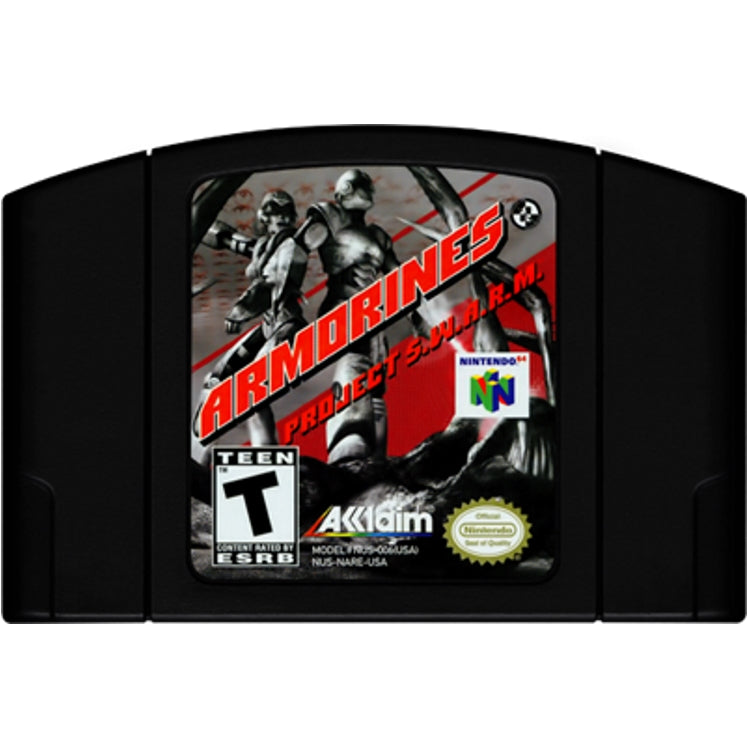 Armorines: Project S.W.A.R.M. - Authentic Nintendo 64 (N64) Game Cartridge - YourGamingShop.com - Buy, Sell, Trade Video Games Online. 120 Day Warranty. Satisfaction Guaranteed.