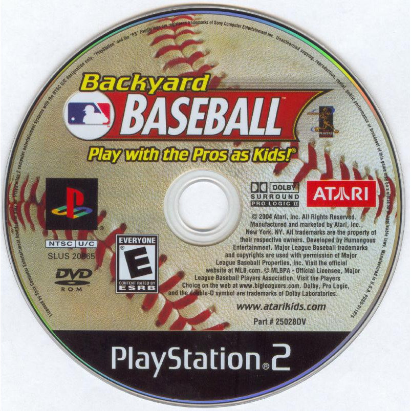 Backyard Baseball - PlayStation 2 (PS2) Game Complete - YourGamingShop.com - Buy, Sell, Trade Video Games Online. 120 Day Warranty. Satisfaction Guaranteed.