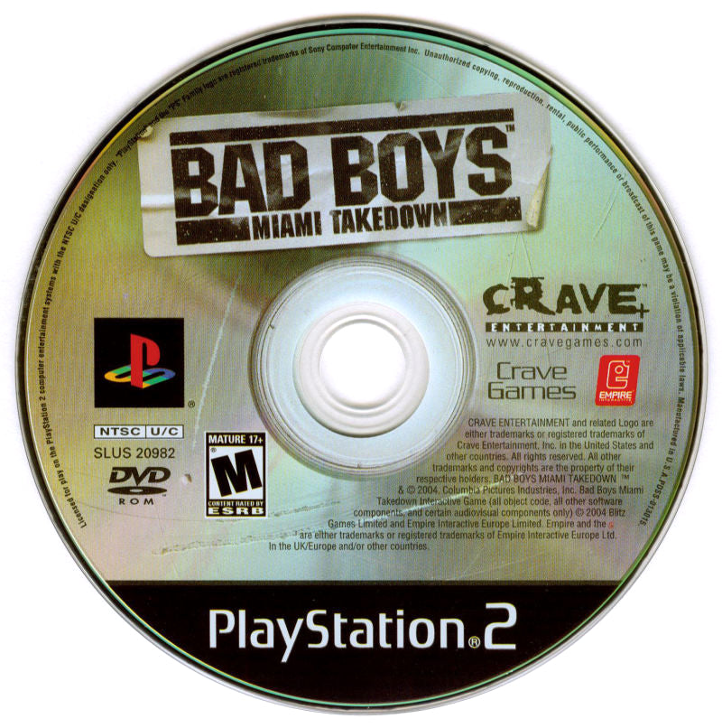Bad Boys: Miami Takedown - PlayStation 2 (PS2) Game Complete - YourGamingShop.com - Buy, Sell, Trade Video Games Online. 120 Day Warranty. Satisfaction Guaranteed.