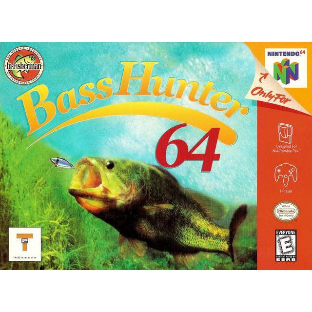 In-Fisherman Bass Hunter 64 - Authentic Nintendo 64 (N64) Game Cartridge - YourGamingShop.com - Buy, Sell, Trade Video Games Online. 120 Day Warranty. Satisfaction Guaranteed.