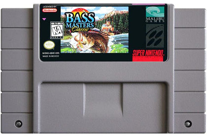 Bass Masters Classic - Super Nintendo (SNES) Game Cartridge