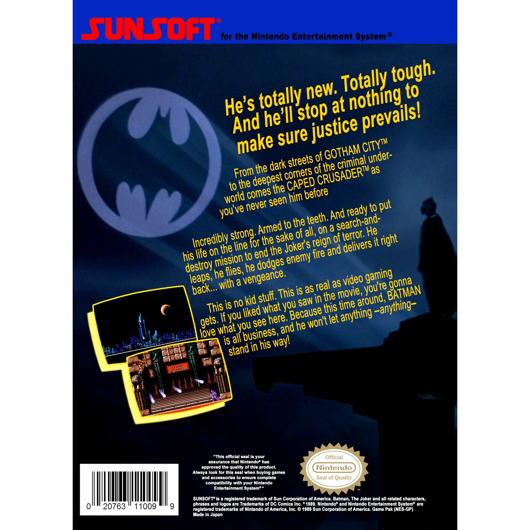 Batman: The Video Game - Authentic NES Game Cartridge - YourGamingShop.com - Buy, Sell, Trade Video Games Online. 120 Day Warranty. Satisfaction Guaranteed.