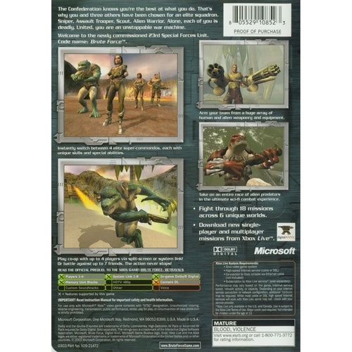 Brute Force - Microsoft Xbox Game Complete - YourGamingShop.com - Buy, Sell, Trade Video Games Online. 120 Day Warranty. Satisfaction Guaranteed.