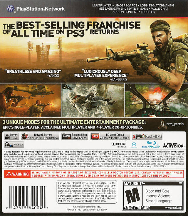 Call of Duty: Black Ops - PlayStation 3 (PS3) Game