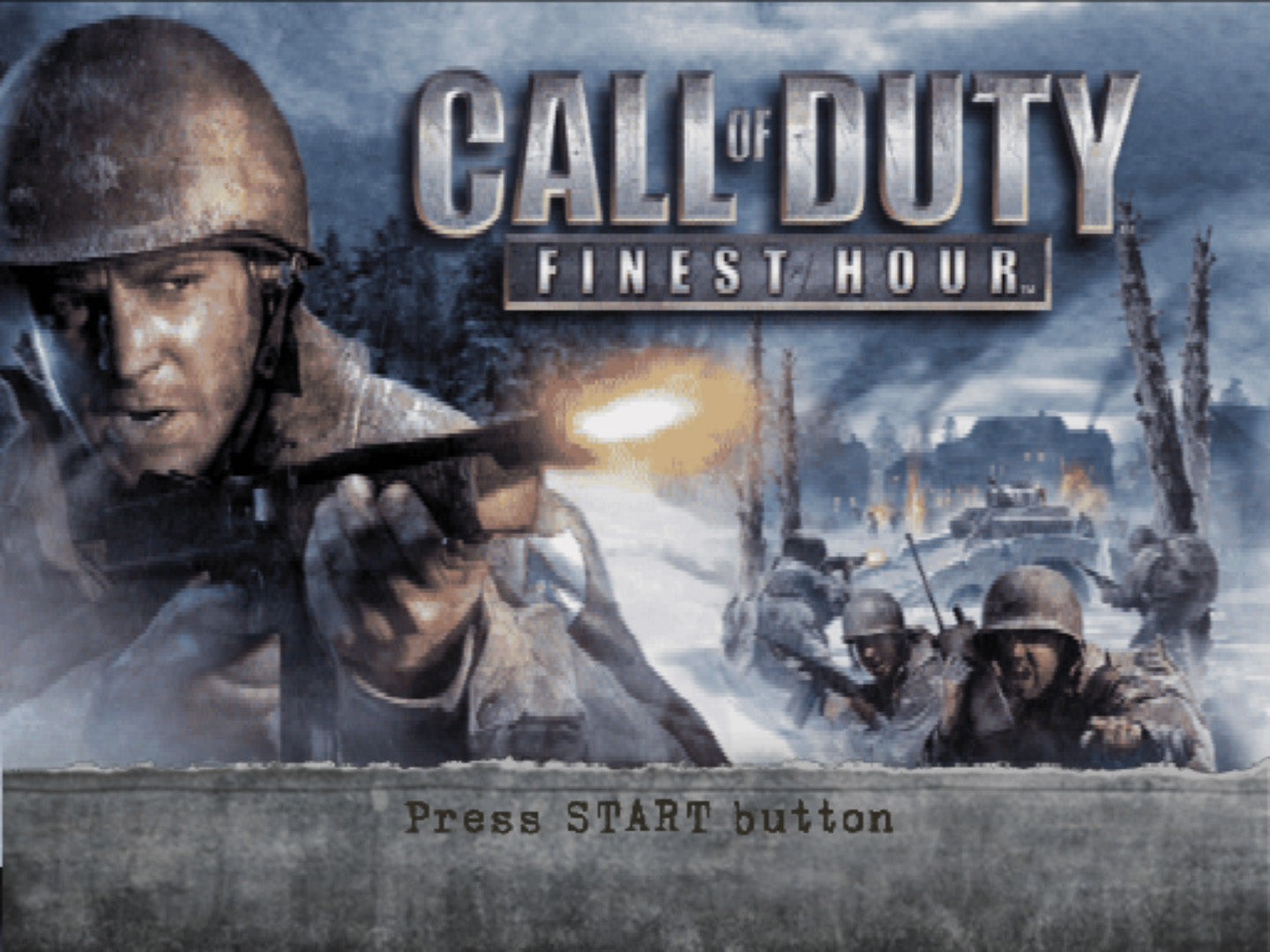Call Of Duty Finest Hour - PlayStation 2 (PS2) Game