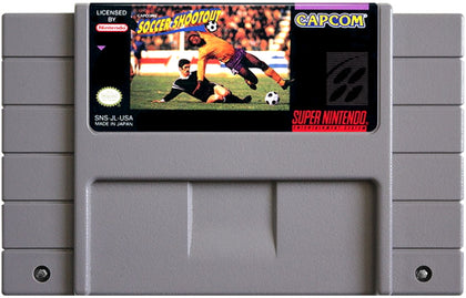 Capcom's Soccer Shootout - Super Nintendo (SNES) Game Cartridge