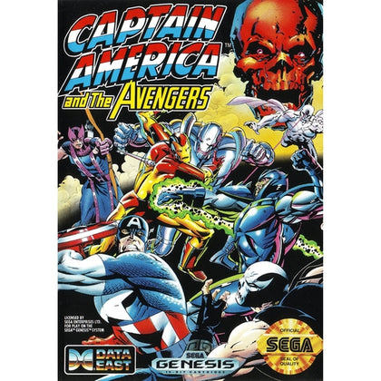 Captain America and The Avengers - Sega Genesis Game Complete - YourGamingShop.com - Buy, Sell, Trade Video Games Online. 120 Day Warranty. Satisfaction Guaranteed.